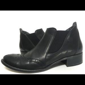 PAUL GREEN Jay Slip Booties Black Leather 8